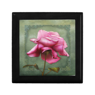 "Jaguarwoman's ""Last Rose of August"" Giftbox Small Square Gift Box"