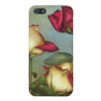 """Jaguarwoman's """"Red & & Yellow Roses"""" iPhone Case Case For The iPhone 5"""