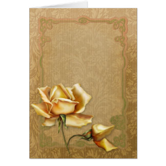 "Jaguarwoman's ""Special Occasions Yellow Roses II"" Card"