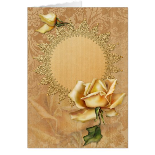 "Jaguarwoman's ""Yellow Rose Special Occasions I"" Card"