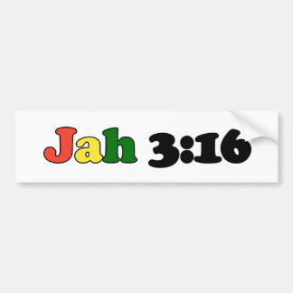 Jah 3:16 bumper sticker