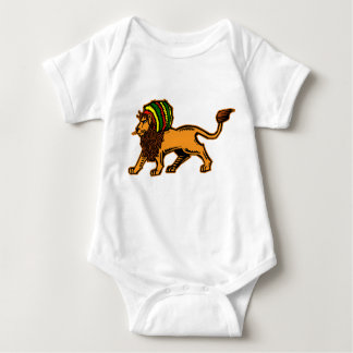 Jah King Rasta Lion Baby Bodysuit