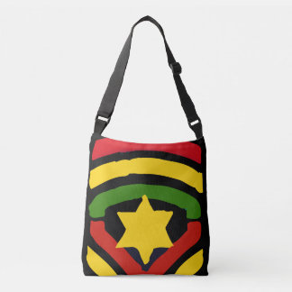 Jah Rastafari All Over Design Cross Body Bag