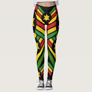 Jah Rastafari Irie Jamaican Rasta Leggings