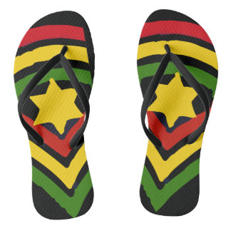 Jah Rastafari Jamaican Reggae Flip Flops