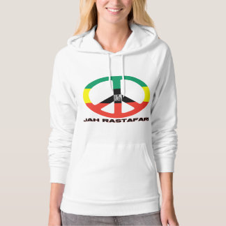 Jah Rastafari Peace Sign with Selassie Hoodie
