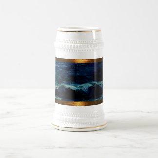 JAH SEA + higher contrast sailor cup-mug Beer Stein