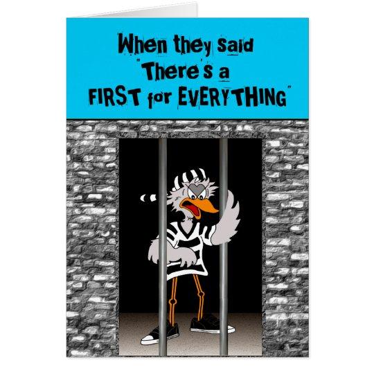 Jailbird Greeting card