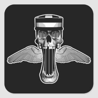 Jailbird Skull Square Sticker