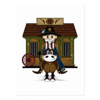 Jailhouse Cowboy on Horse Postcard
