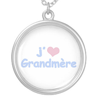 J'aime Grandmère (French) Necklaces