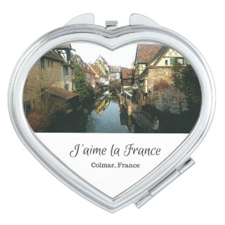 J'aime la France Compact Mirror (Heart)- Colmar