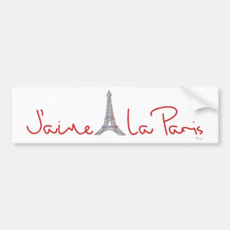 J'aime La Paris (I love Paris) Bumper Sticker