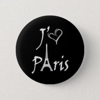 j'aime Paris 6 Cm Round Badge