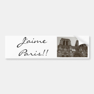 J'aime Paris Bumper Sticker