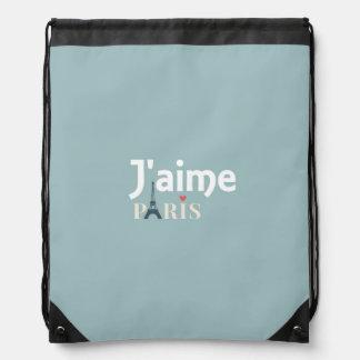 J'aime Paris Drawstring Backpack