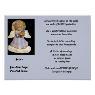 JAIME-PONYTAIL CHORUS GUARDIAN ANGEL CUSTOM POSTER