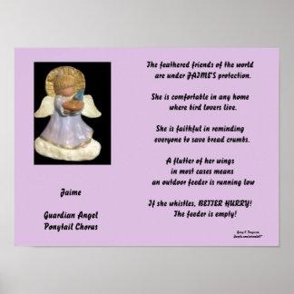 JAIME-PONYTAIL CHORUS GUARDIAN ANGEL POSTER