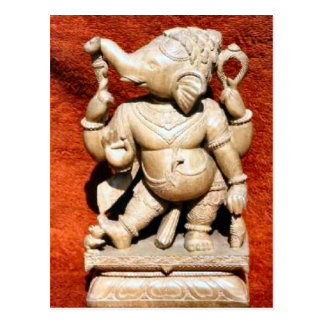 Jain temple, India statue Postcard