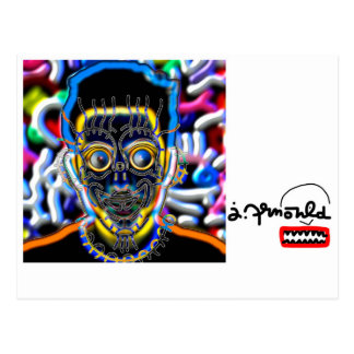jak arnould 1081 portrait brad by jak postcard