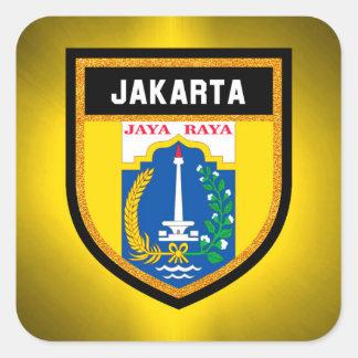 Jakarta Flag Square Sticker