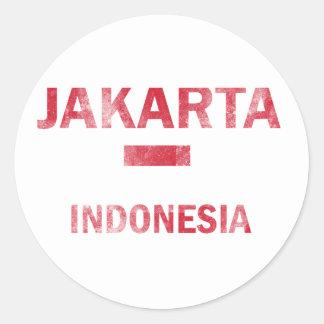 Jakarta Indonesia designs Classic Round Sticker