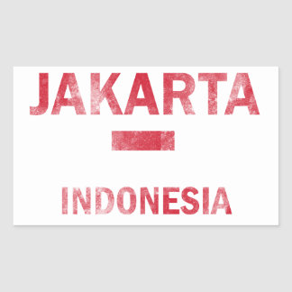 Jakarta Indonesia Designs Rectangular Sticker
