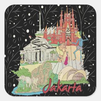 Jakarta Square Sticker