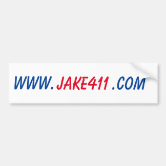 Jake 411 bumper sticker