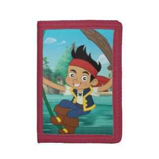 Jake and the Never Land Pirates | Jake Running Tri-fold Wallets