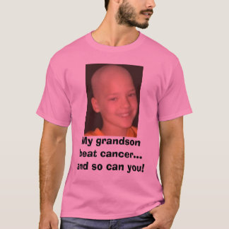 jake cancer headshot, My grandson beat cancer..... T-Shirt