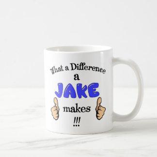 Jake mug, what a difference a Jake makes, Jacob. Coffee Mug