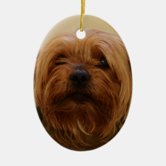 Jake The Yorkie Terrier Ceramic Ornament