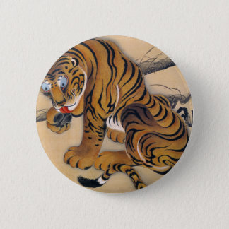 Jakuchu_ 虎図 6 cm round badge