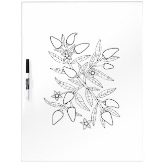 Jalapeno Branch Adult Coloring Dry Erase Board