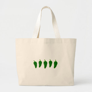 Jalapeno (Jalapeño) Peppers Logo Large Tote Bag