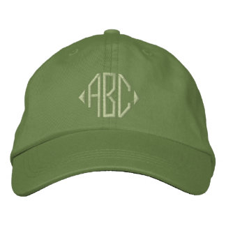 Jalepeno and Cactus Green Monogram Embroidered Hat