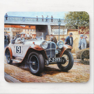 Jalopy racing car painting mouse pad