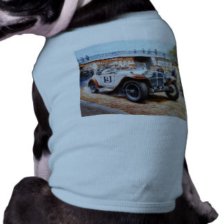 Jalopy racingcar painting sleeveless dog shirt