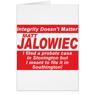 Jalowiec 2010 Campaign Sign Audit Greeting Card
