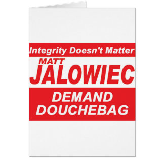 Jalowiec 2010 Campaign Sign DB Greeting Cards