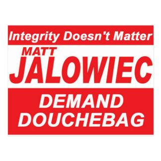 Jalowiec 2010 Campaign Sign DB Postcard
