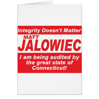 Jalowiec 2010 Campaign Sign southington Greeting Card
