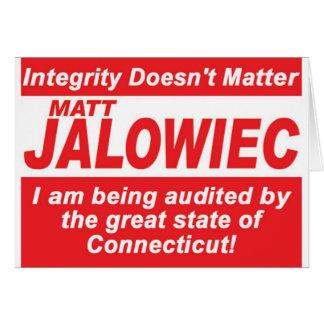 Jalowiec 2010 Campaign Sign southington Card