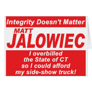 Jalowiec 2010 Campaign Sign SS Truck Greeting Cards