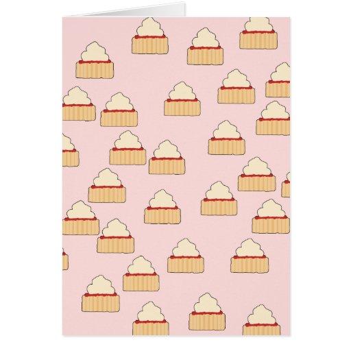 Jam and Cream Scone pattern. Cards