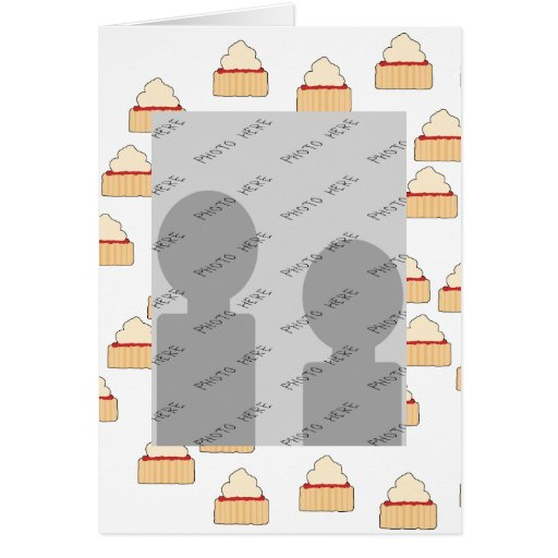 Jam and Cream Scone pattern. Greeting Card