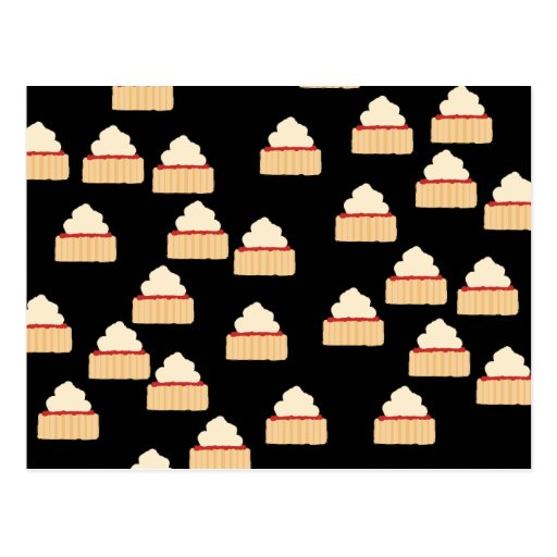 Jam and Cream Scone pattern. Post Cards
