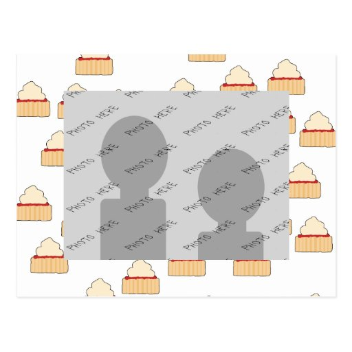 Jam and Cream Scone pattern. Post Card