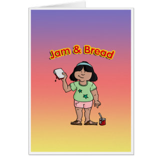 Jam & Bread Greeting Card
